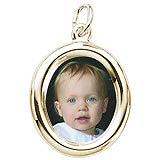 10K Gold Small Oval PhotoArt® Charm by Rembrandt Charms