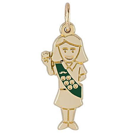 14k Gold Girl Scout Charm by Rembrandt Charms