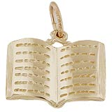 Gold Plated Open Book Charm by Rembrandt Charms