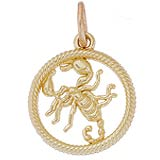 Gold Plated Scorpio Zodiac Charm by Rembrandt Charms