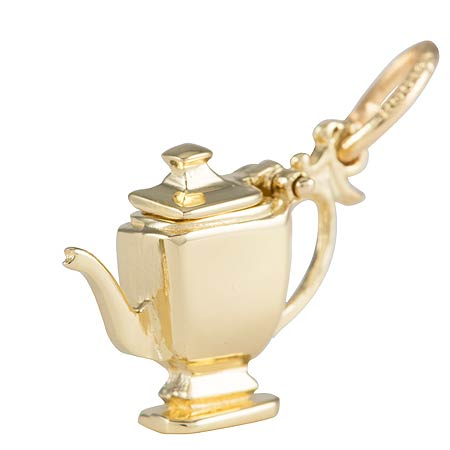 Gold Plated Teapot Charm by Rembrandt Charms