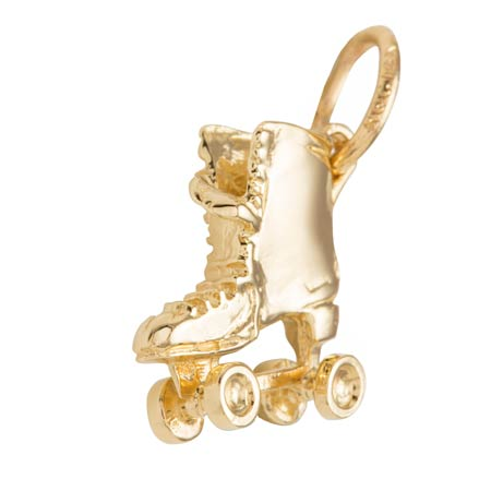 Gold Plated Roller Skate Charm by Rembrandt Charms