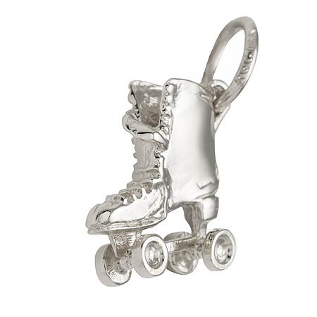 14K White Gold Roller Skate Charm by Rembrandt Charms