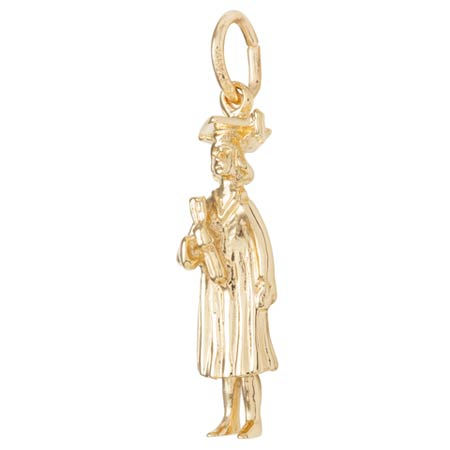 14k Gold Female Graduate Charm by Rembrandt Charms