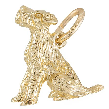 10K Gold Sitting Terrier Dog Charm by Rembrandt Charms