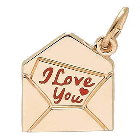 14k Gold Love Letter Charm by Rembrandt Charms