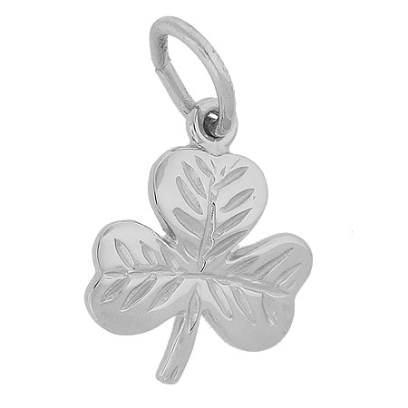 Sterling Silver Shamrock Charm by Rembrandt Charms