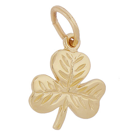 Gold Plate Shamrock Charm by Rembrandt Charms