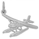 14k White Gold Seaplane Charm by Rembrandt Charms