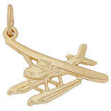 10k Gold Seaplane Charm by Rembrandt Charms