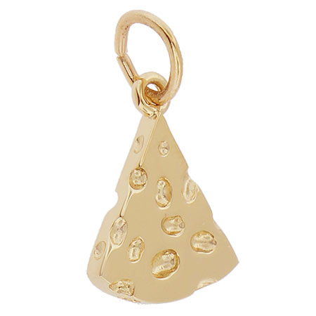 14K Gold Cheese Slice Charm by Rembrandt Charms