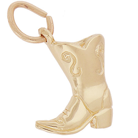 14K Gold Cowboy Boot Charm by Rembrandt Charms