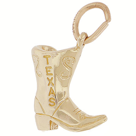 14K Gold Texas Boot Charm by Rembrandt Charms