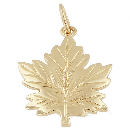 14k Gold Maple Leaf Charm by Rembrandt Charms