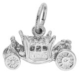 14K White Gold Royal Carriage Charm by Rembrandt Charms