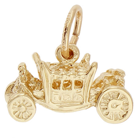 10K Gold Royal Carriage Charm by Rembrandt Charms