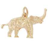 Gold Plate Asian Elephant Charm by Rembrandt Charms