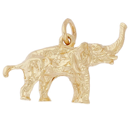 10K Gold Asian Elephant Charm by Rembrandt Charms