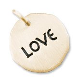Gold Plate Love Charm Tag by Rembrandt Charms