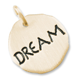 Gold Plate Dream Charm Tag by Rembrandt Charms