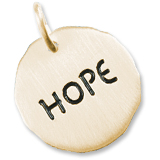 14K Gold Hope Charm Tag by Rembrandt Charms