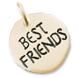 14K Gold Best Friends Charm Tag by Rembrandt Charms