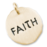 Gold Plate Faith Charm Tag by Rembrandt Charms