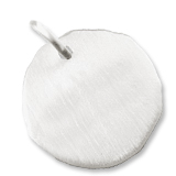 14K White Gold Blank Charm Tag by Rembrandt Charms