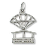 14k White Gold Niagara Falls Aero Car Charm by Rembrandt Charms