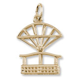 14k Gold Niagara Falls Aero Car Charm by Rembrandt Charms