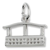 14k White Gold Aero Car Gondola Charm by Rembrandt Charms
