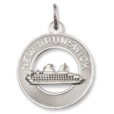 14K White Gold New Brunswick Cruise Ship Charm by Rembrandt Charms