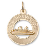 10K Gold New Brunswick Cruise Ship Charm by Rembrandt Charms