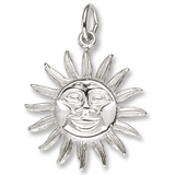 14K White Gold Belize Sunshine Charm by Rembrandt Charms