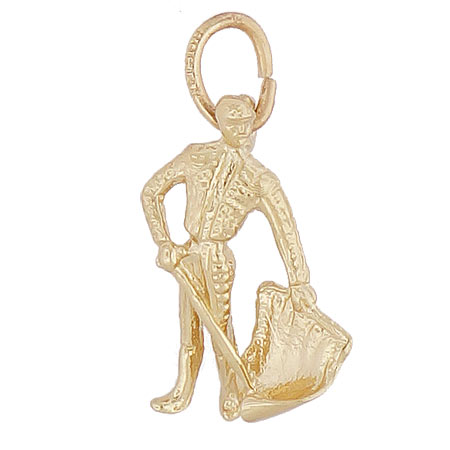 14K Gold Bull Fighter Charm by Rembrandt Charms