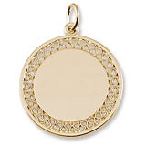 10k Gold Filigree Disc Charm by Rembrandt Charms