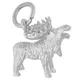 Sterling Silver Moose Charm by Rembrandt Charms