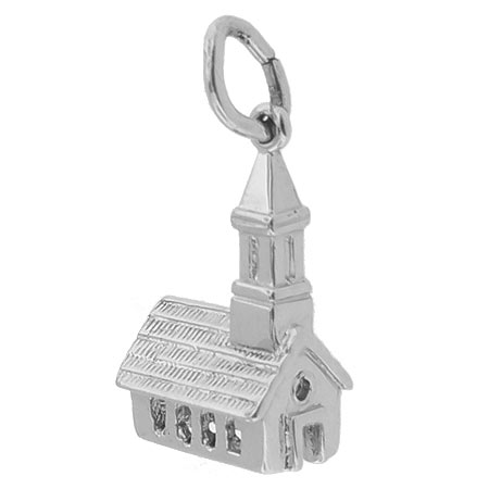 14k White Gold Church Charm by Rembrandt Charms