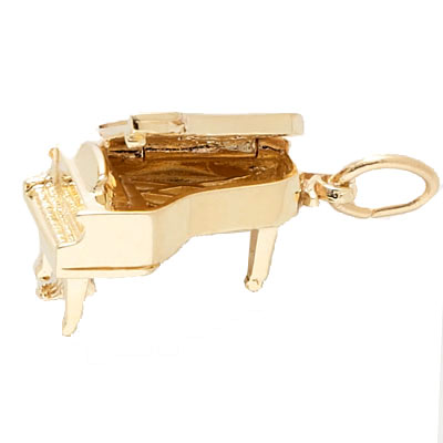 14K Gold Baby Grand Piano Charm by Rembrandt Charms