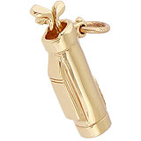 Gold Plate Small Golf Bag Charm by Rembrandt Charms