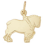 10K Gold Clydesdale Charm by Rembrandt Charms