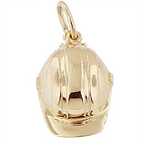 Gold Plate Construction Hat Charm by Rembrandt Charms