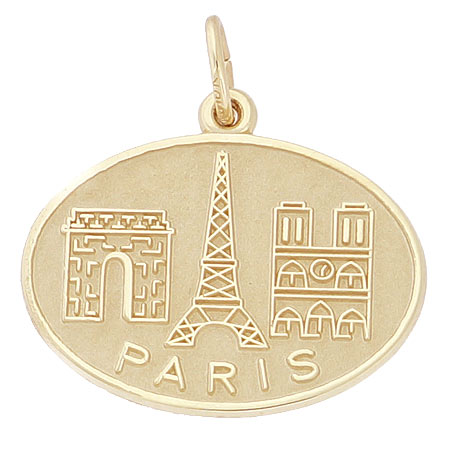 14k Gold Paris France Monuments Charm by Rembrandt Charms