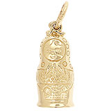 Gold Plated Matryoshka Doll Charm by Rembrandt Charms