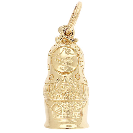 14k Gold Matryoshka Doll Charm by Rembrandt Charms
