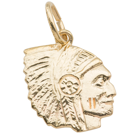 Gold Plate Native American Charm by Rembrandt Charms