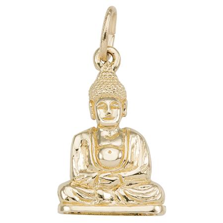 10K Gold Meditation Buddha Charm by Rembrandt Charms