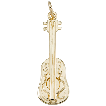 Gold Plate Ukulele Charm by Rembrandt Charms