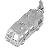 14K White Gold RV. Motor Home Charm by Rembrandt Charms