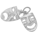 Sterling Silver Theatre Masks Charm by Rembrandt Charms